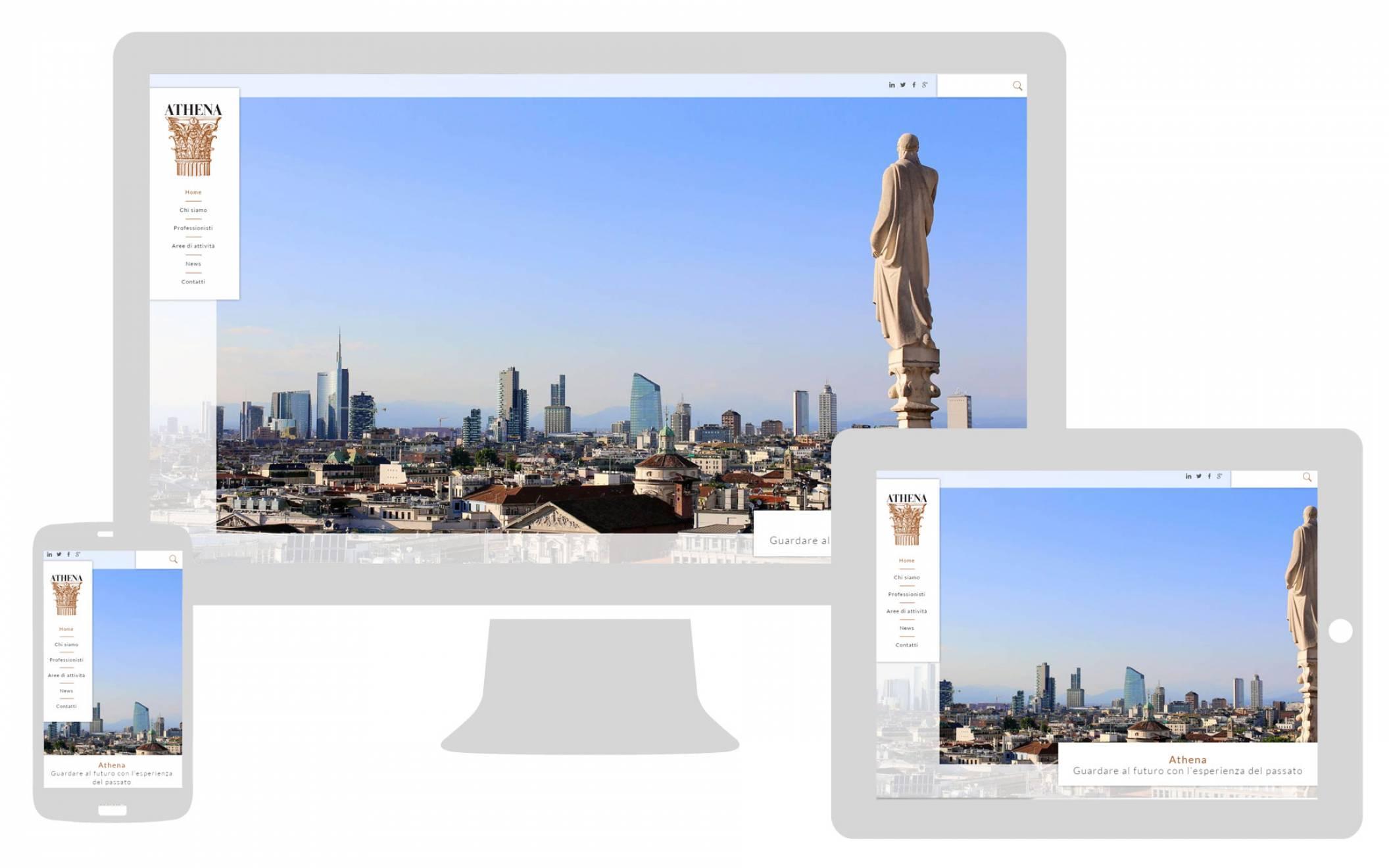 Sito internet responsive Athena Associati NewVisibility web agency