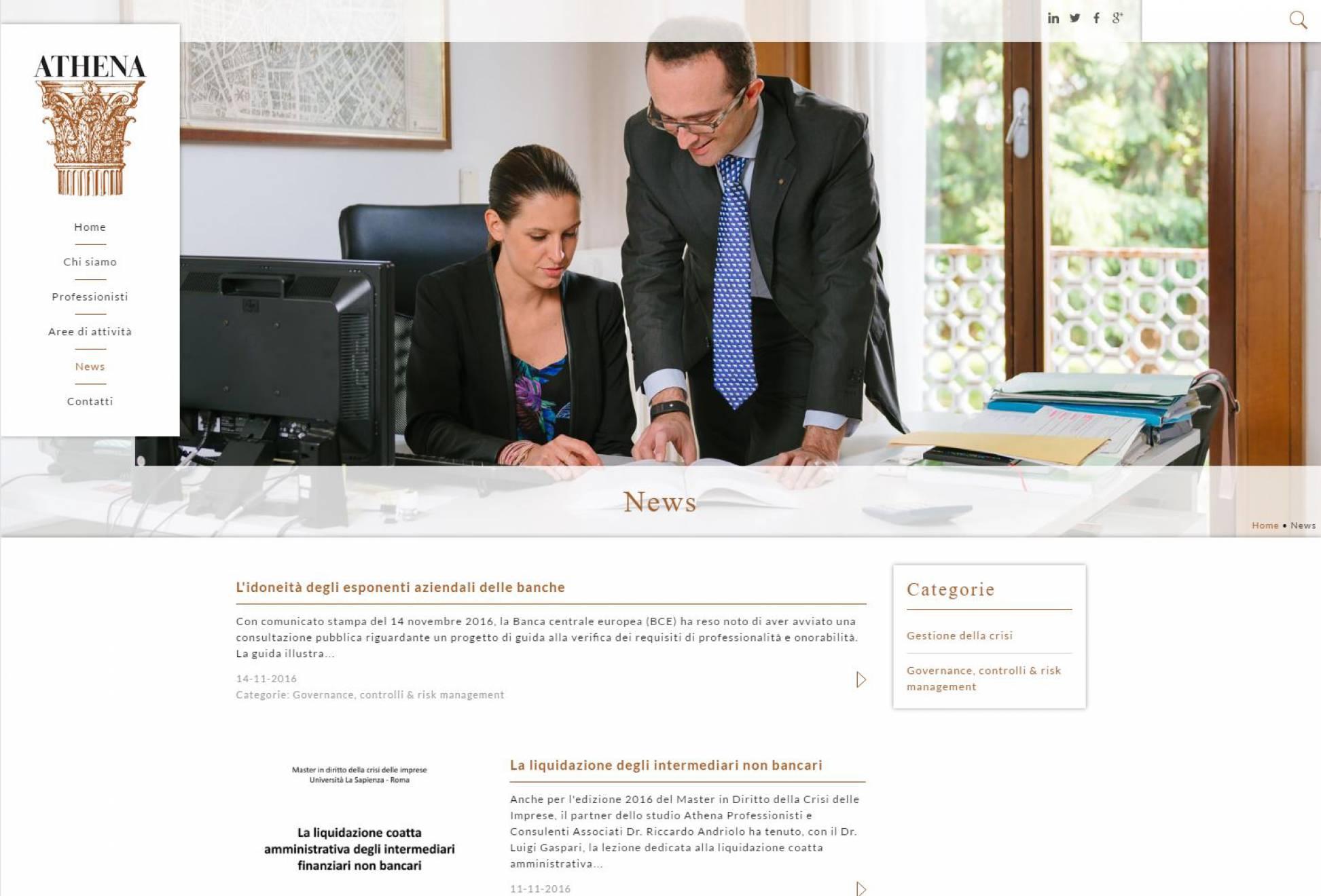 Sezione sito internet responsive news aggiornabili con testi gallery immagini video pdf NewVisibility web agency Como