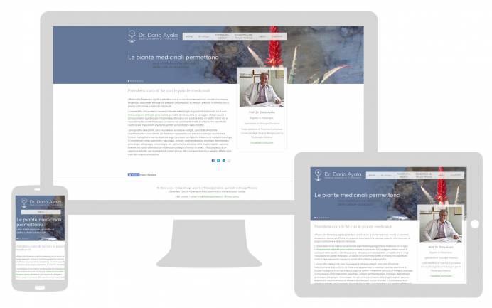 Realizzazione sito internet responsive Dr. Dario Ayala NewVisibility web agency