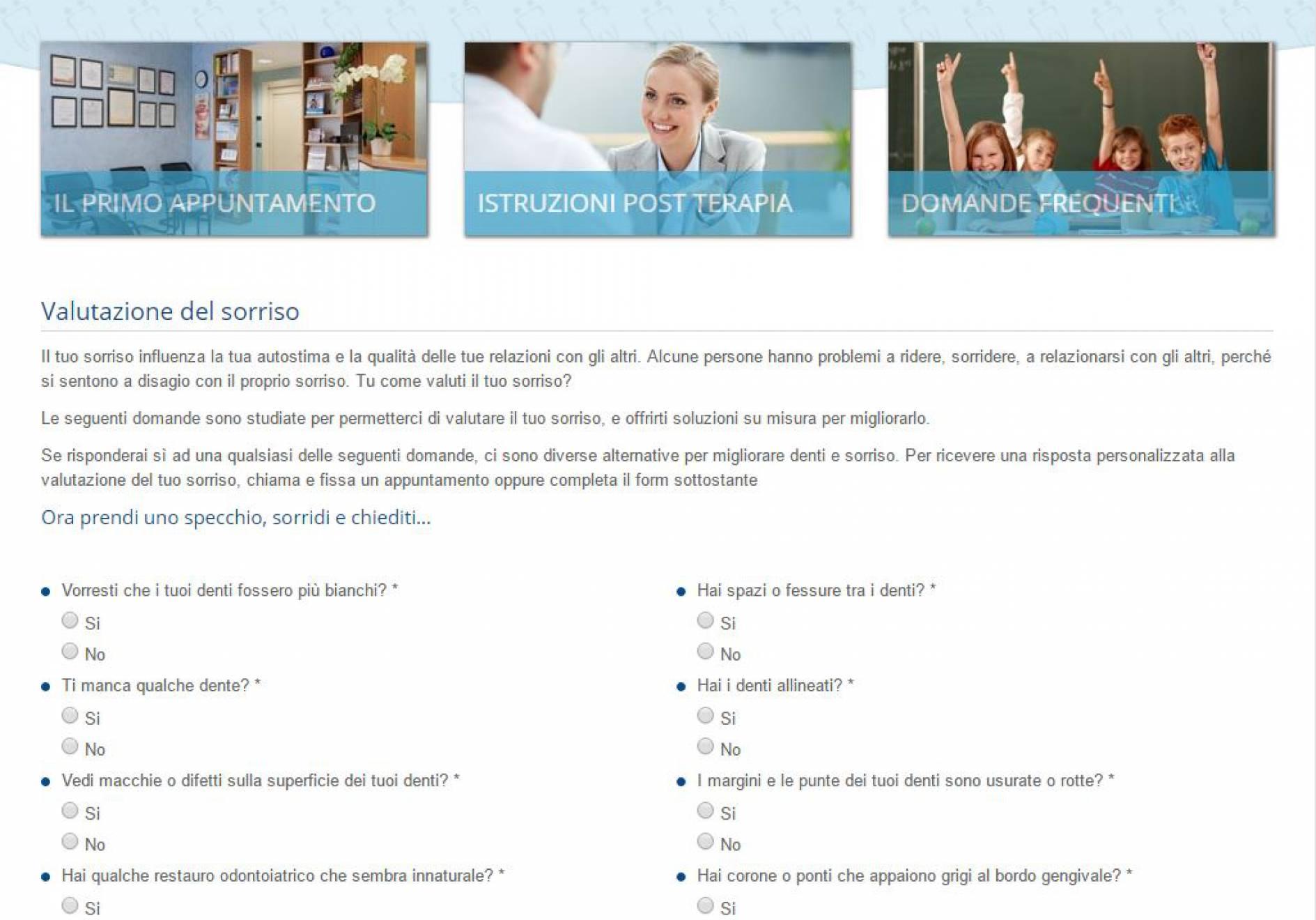 pagina valutazione sito internet Dott. Ballestrasse