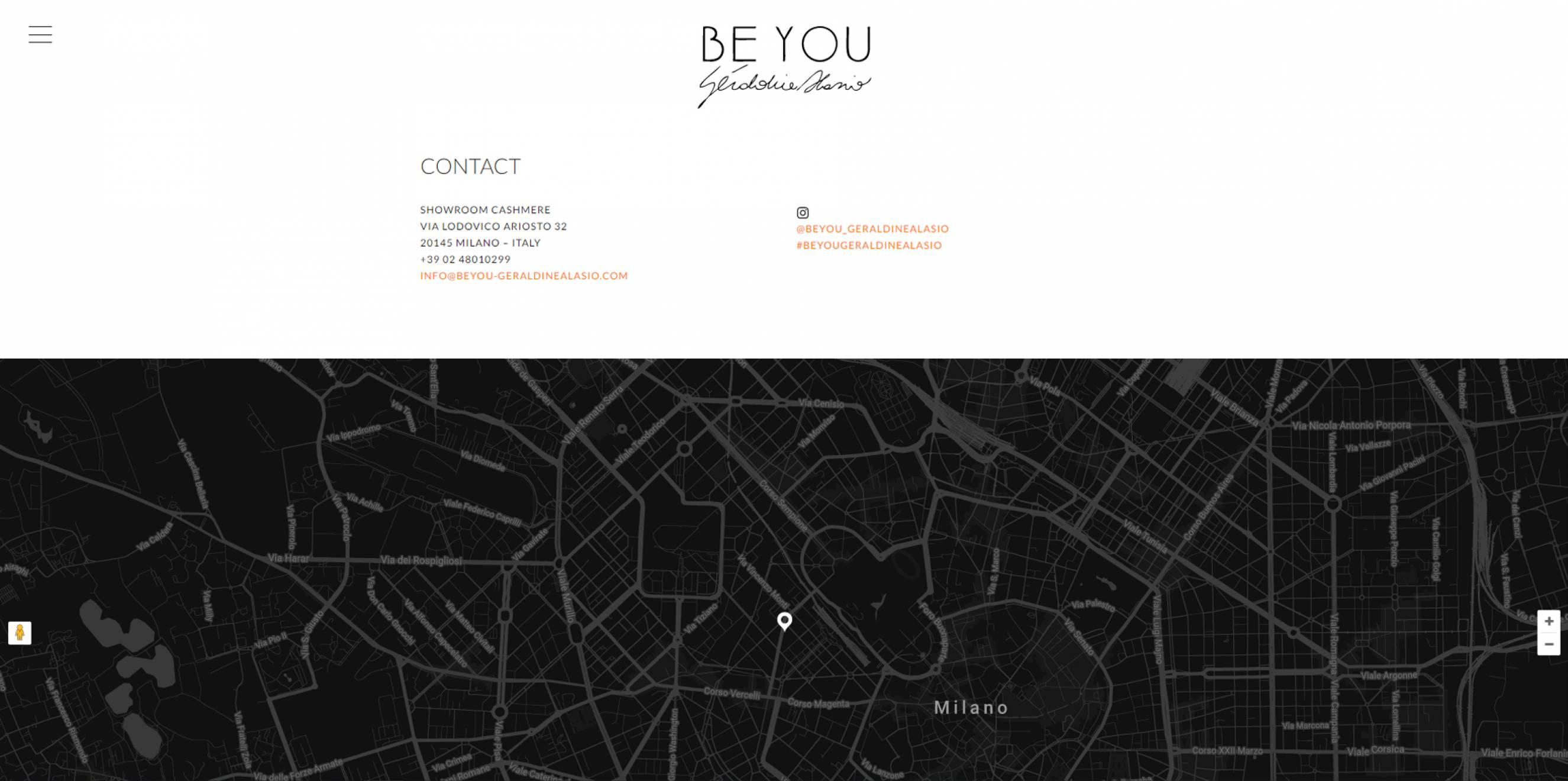 pagina contatti sito internet be you newvisibility