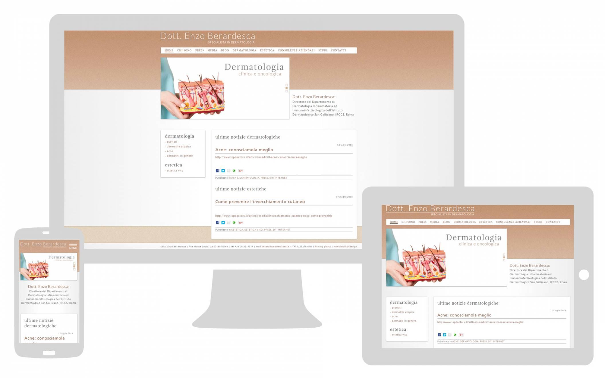 Realizzazione sito internet responsive Dottor Berardesca NewVisibility