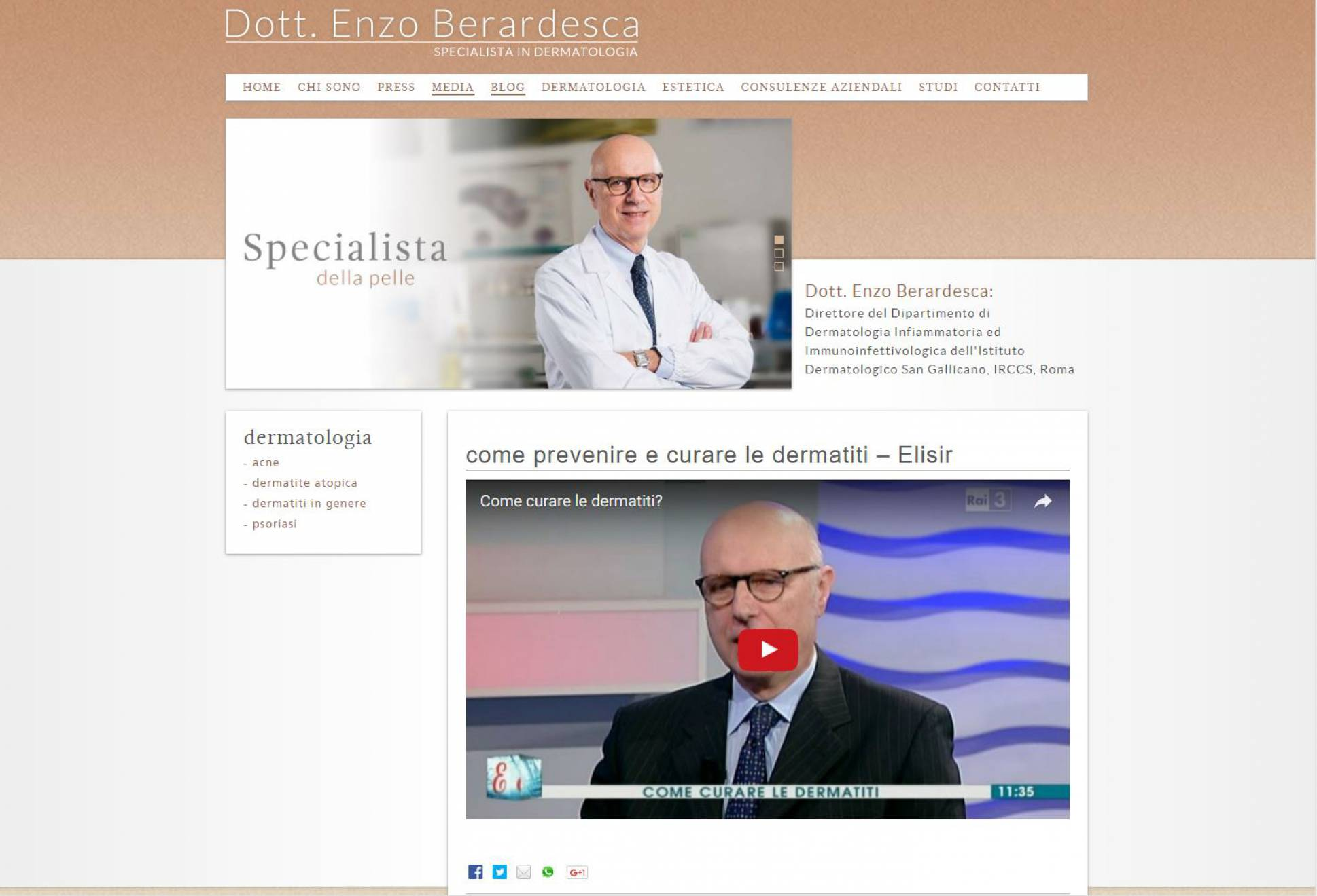 Blog sito internet responsive Dottor Berardesca