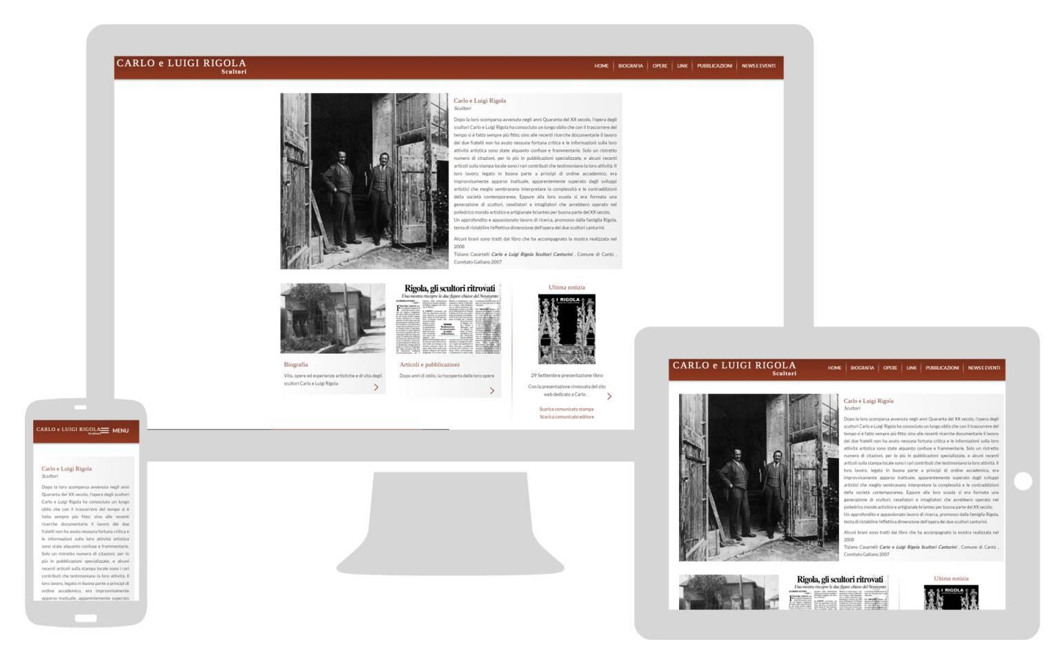 Realizzazione sito internet responsive Carlo e Luigi Rigola NewVisibility web agency