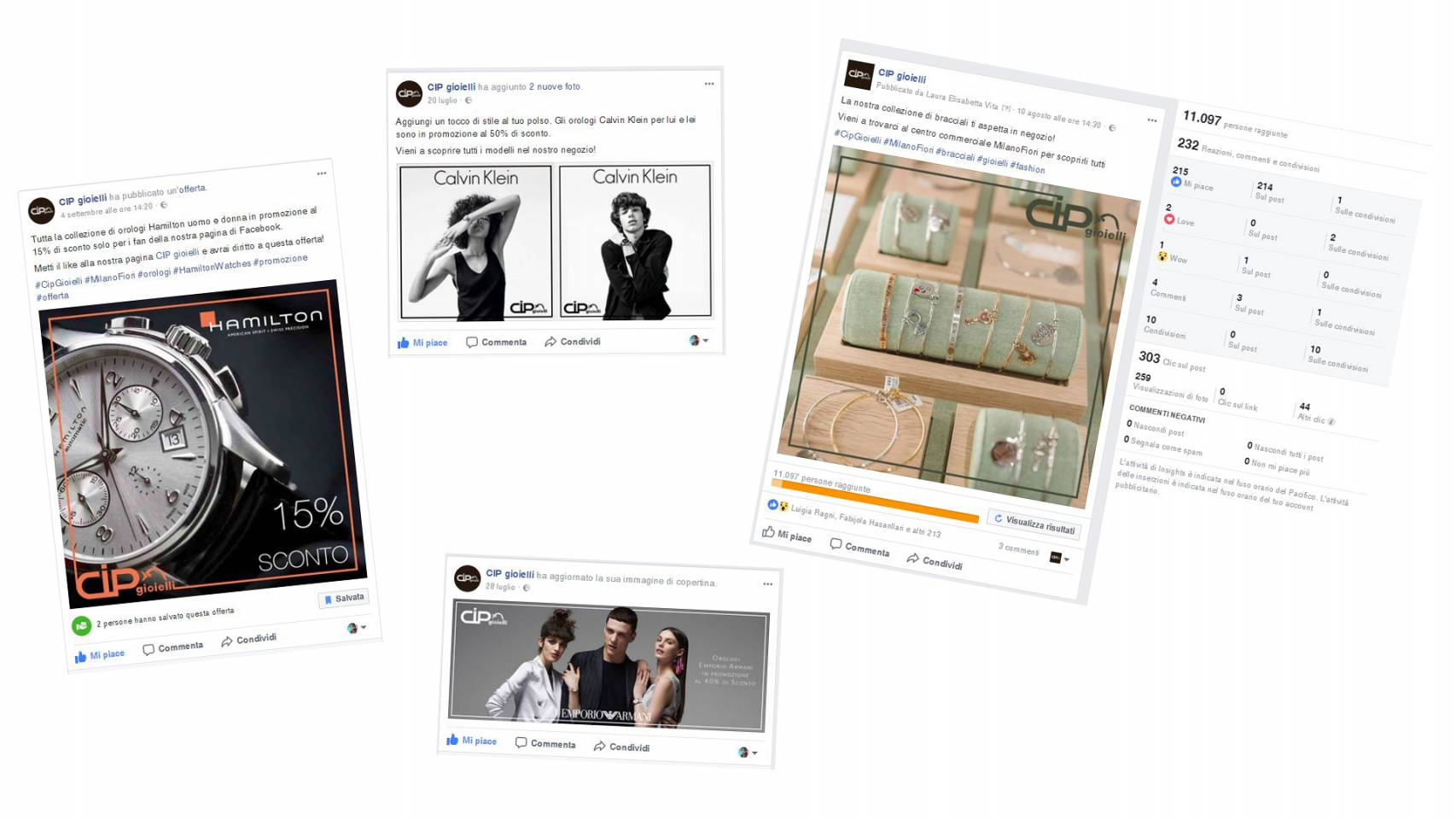 NewVisibility gestisce i social network per la gioielleria Cip Gioielli di Assago