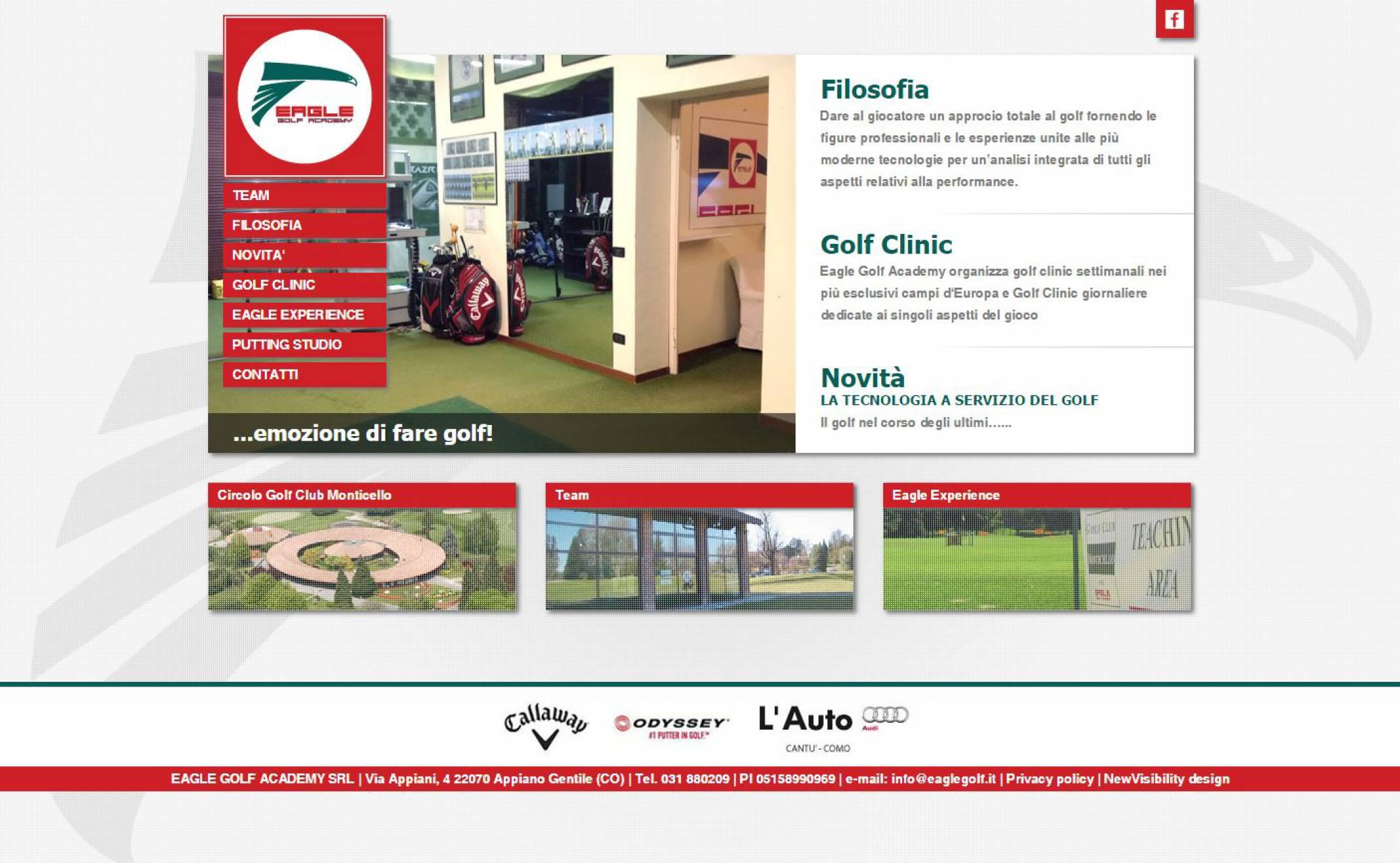 Realizzazione sito internet Eagle Golf NewVisibility