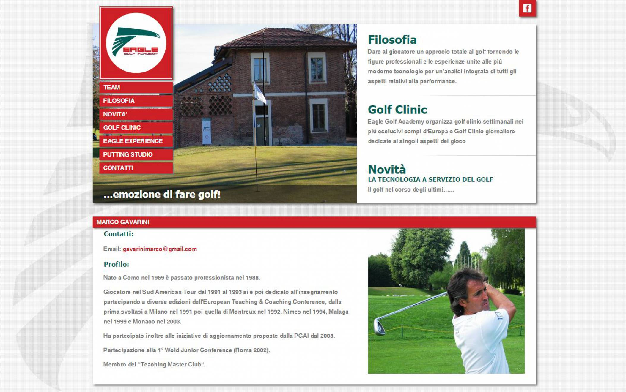 Team sito internet Eagle Golf NewVisibility