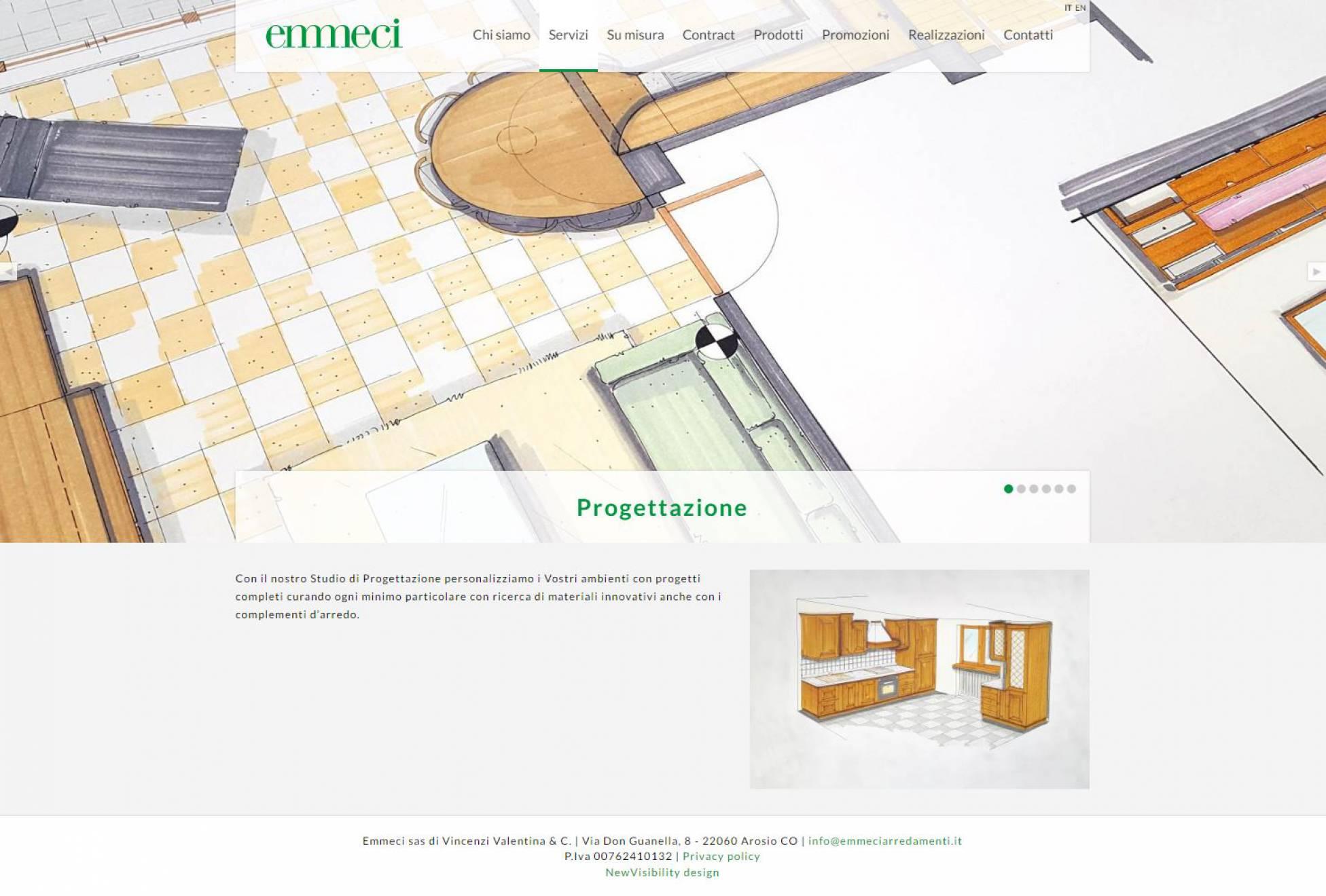 Realizzazione sito internet Emmeci NewVisibility web agency