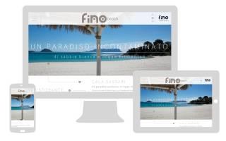 Grafica responsive sito internet Fino Beach newvisibility