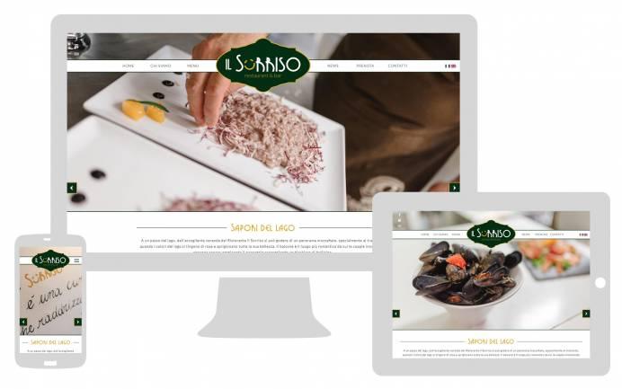 Sito internet responsive ristorante il sorriso realizzato da newvisibility