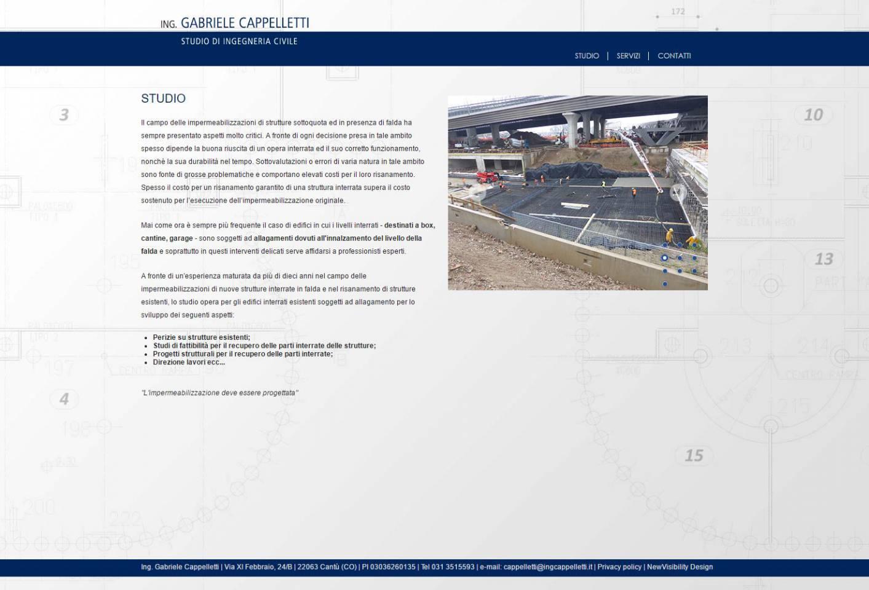 Realizzazione sito internet responsive Ing.Cappelletti NewVisibility Como