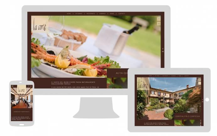 Sito internet responsive ristorante albergo la corte realizzato da newvisibility