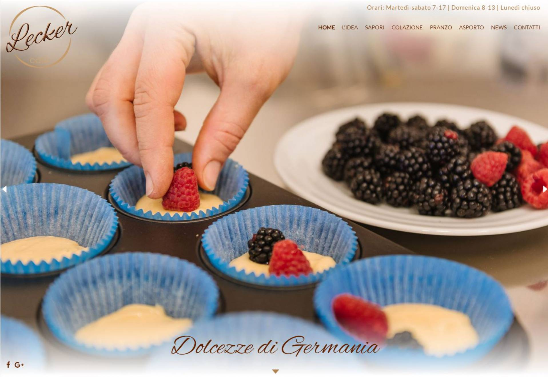 home page sito Lecker cafe