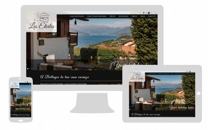 Grafica responsive sito internet les etoiles bellagio newvisibility