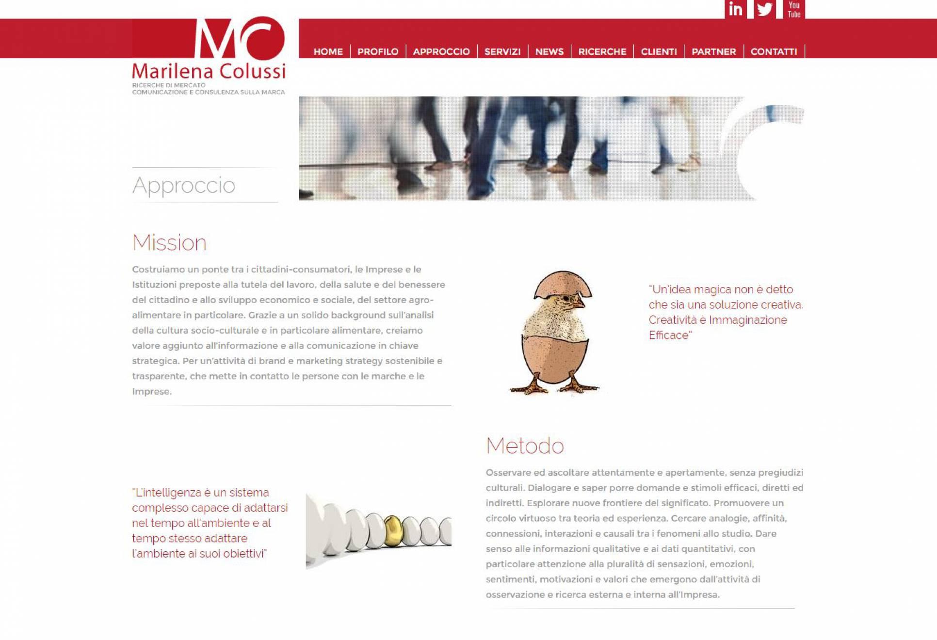 Filosofia sito internet Marilena Colussi