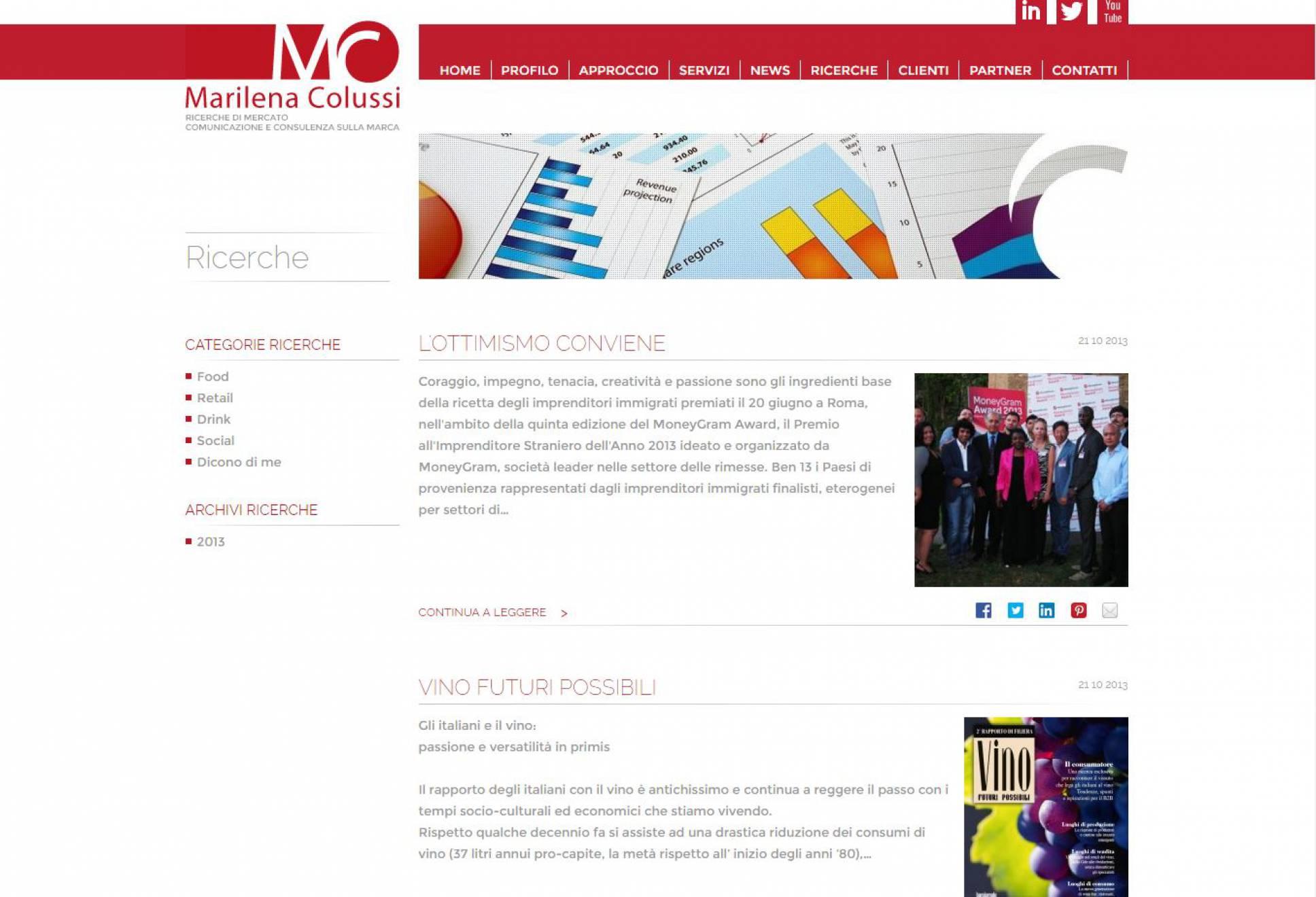 Ricerche sito internet Marilena Colussi