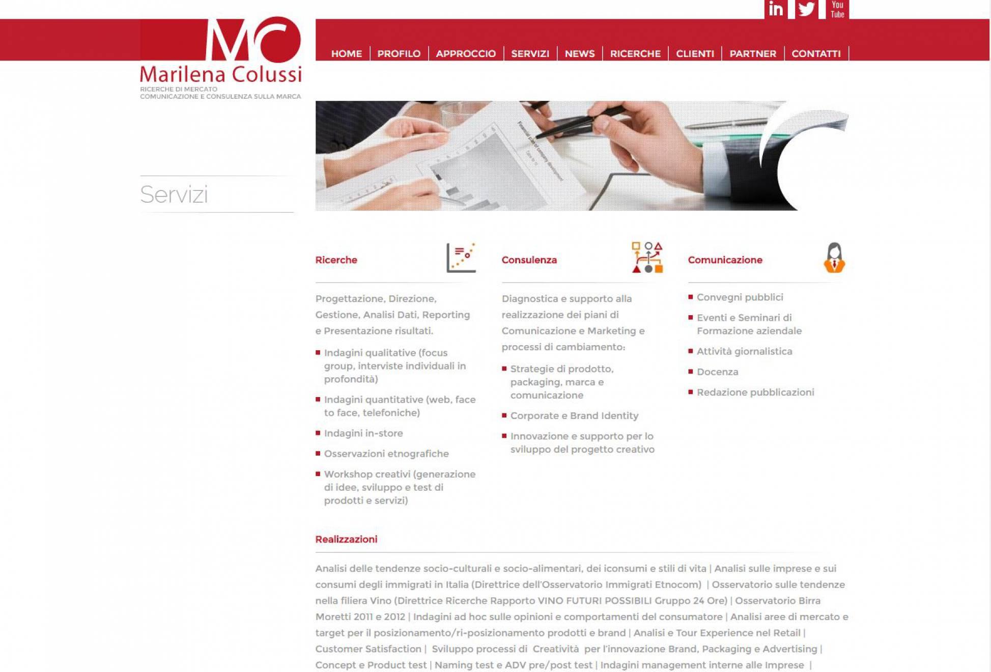 Servizi sito internet Marilena Colussi