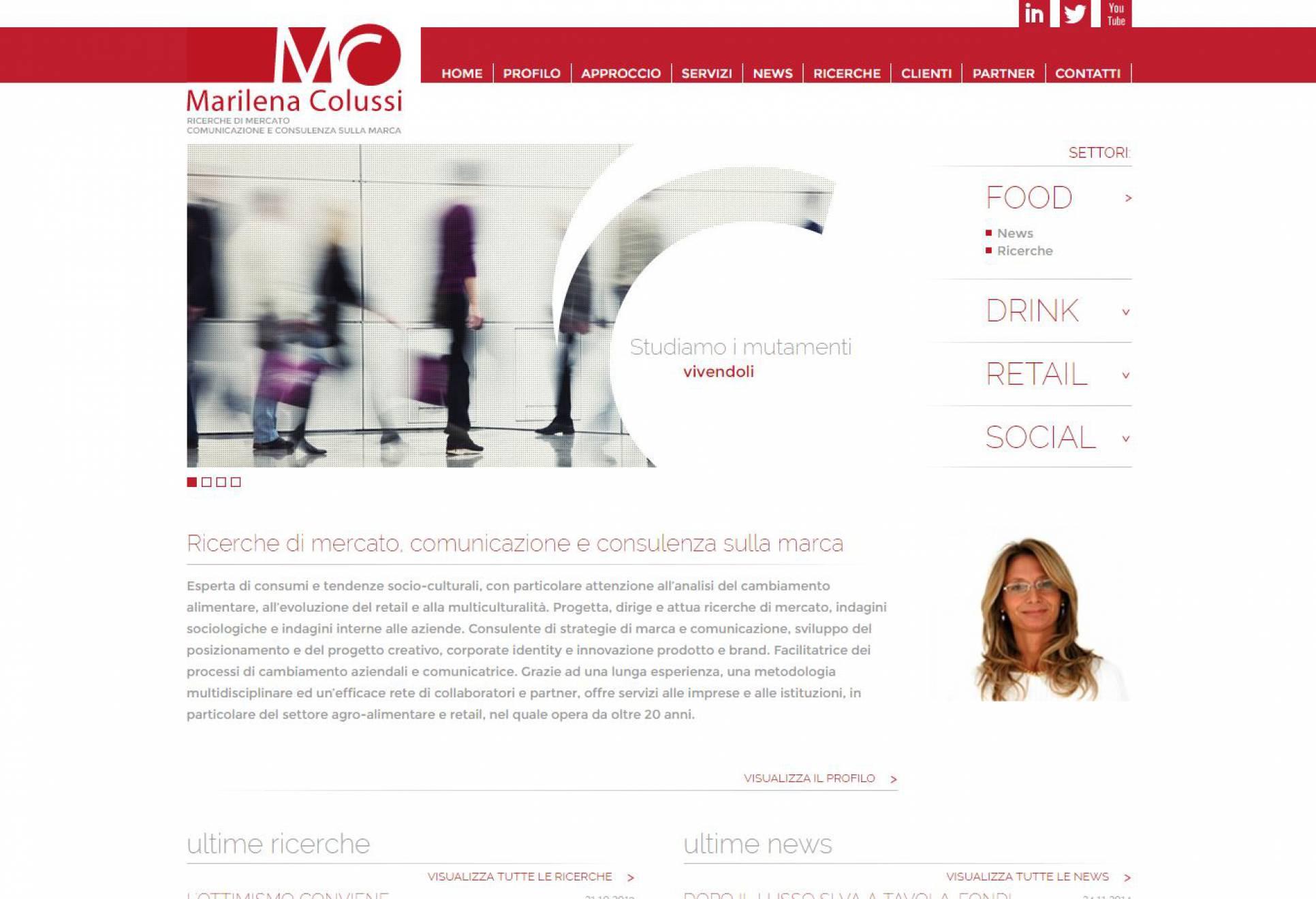 Realizzazione sito internet Marilena Colussi NewVisibility