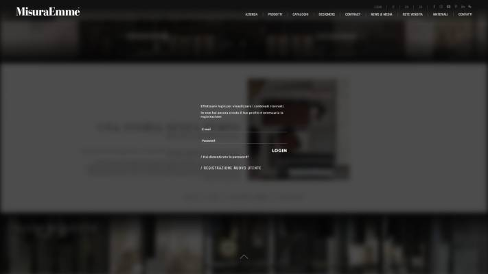 Gestione materiale riservato per il sito MisuraEmme creato da NewVisibility