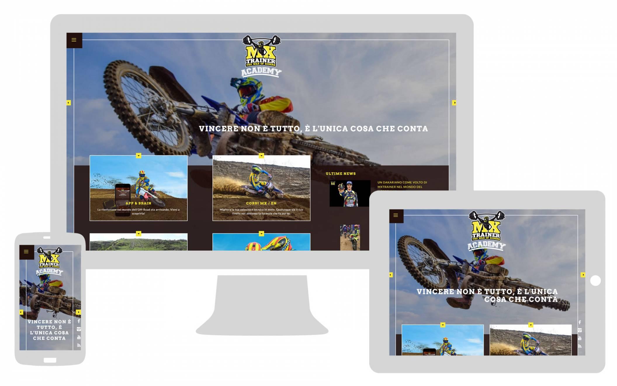 Realizzazione sito internet responsive MX Trainer NewVisbility