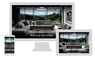Realizzazione sito internet papadatos.gr - NewVisibility