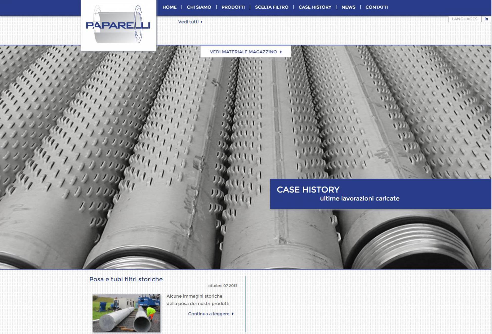 Realizzazione sito internet responsive Paparelli NewVisibility