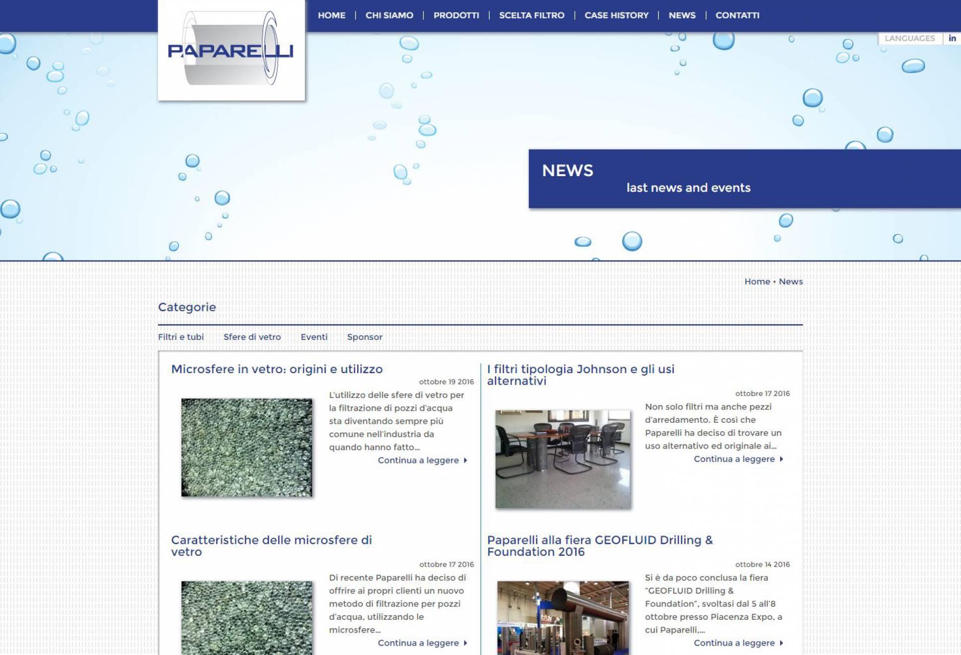 News sito internet responsive Paparelli NewVisibility
