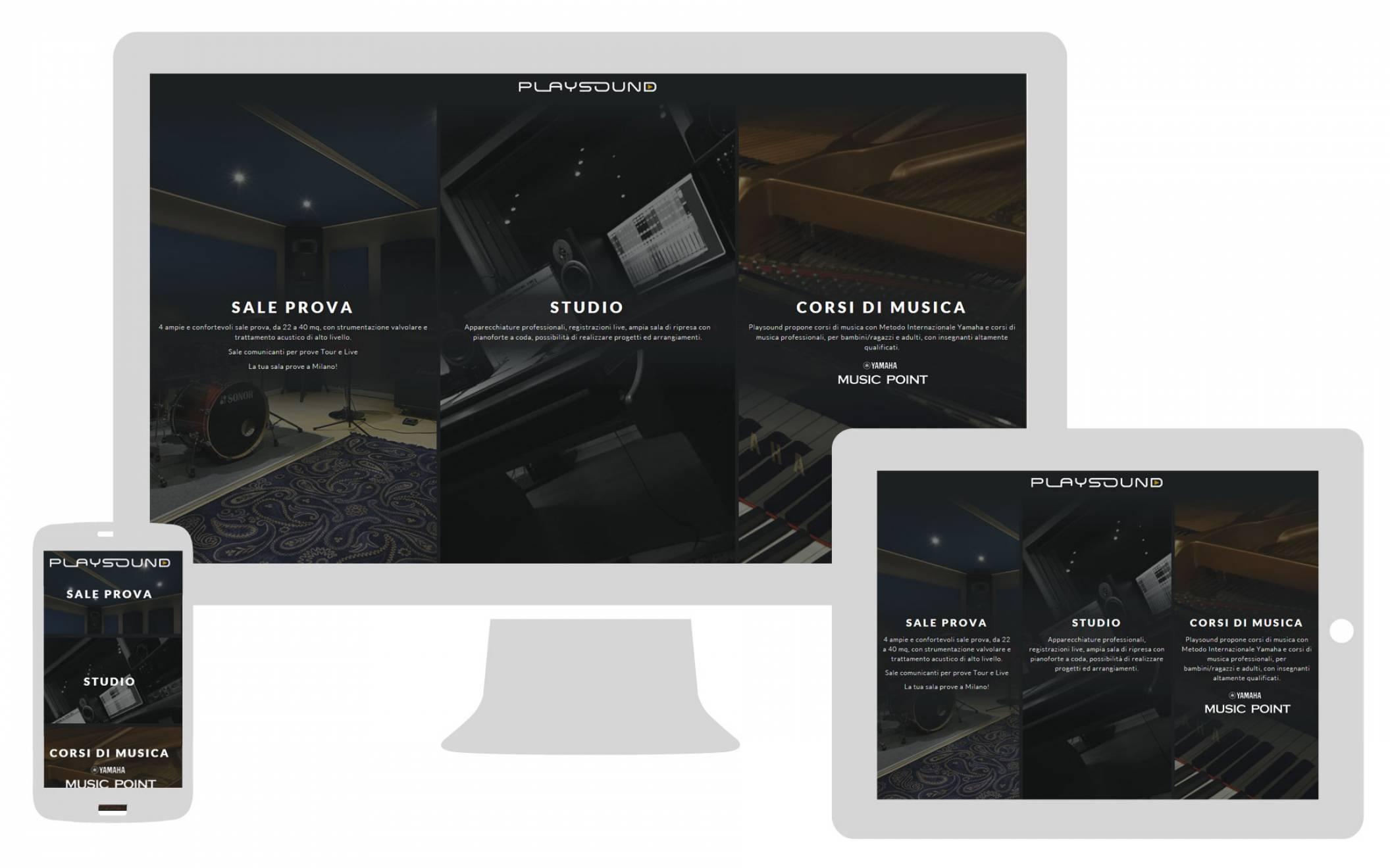 Creazione sito internet responsive Playsound