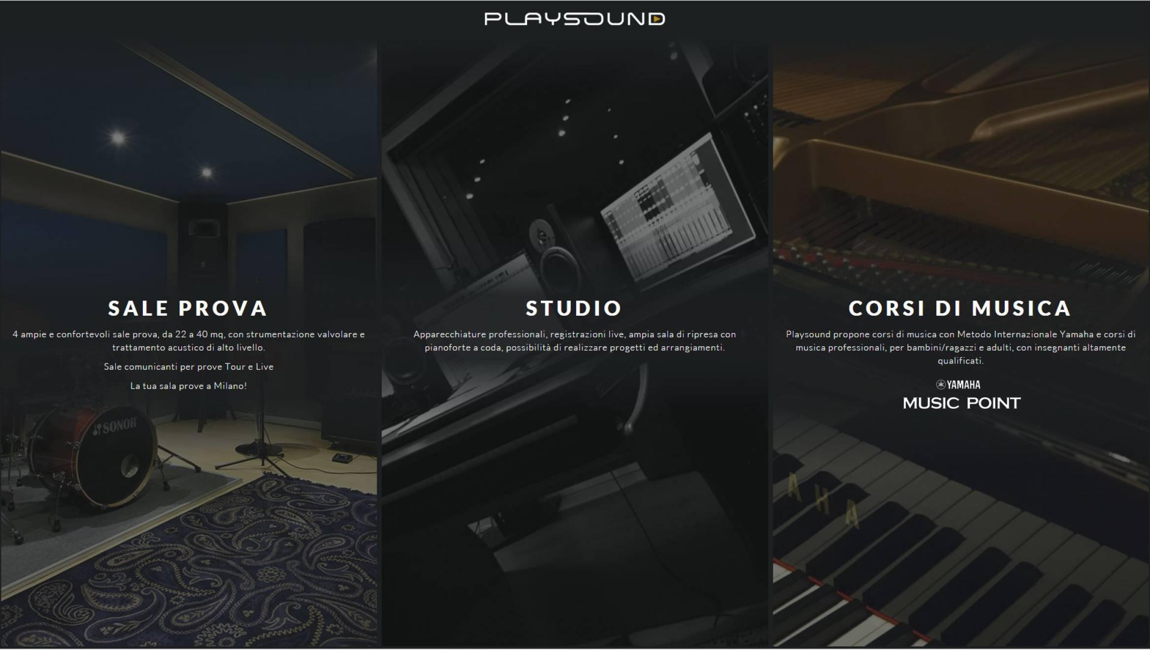 Introduzione sito web Playsound