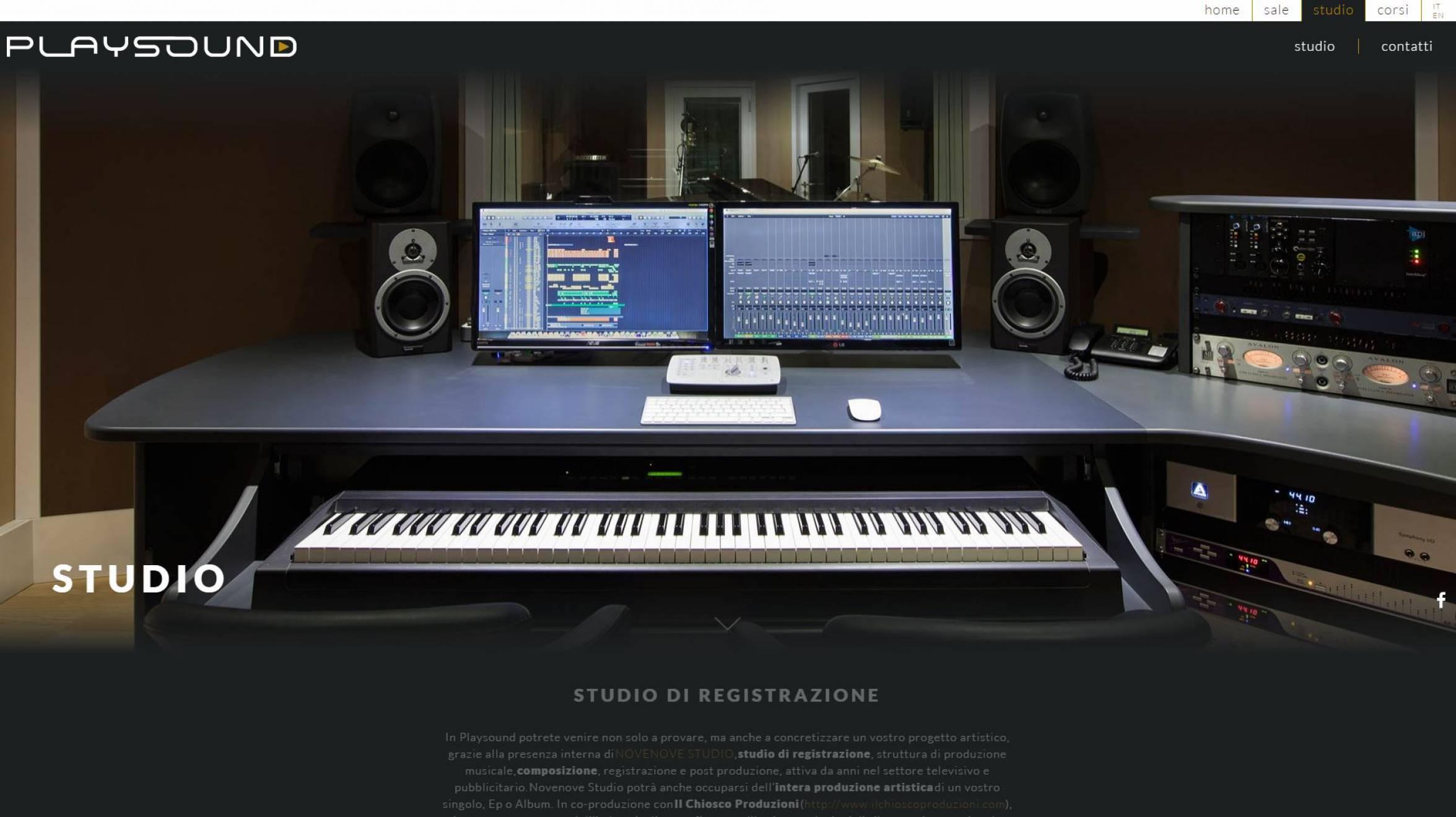 Studio Playsound sito internet