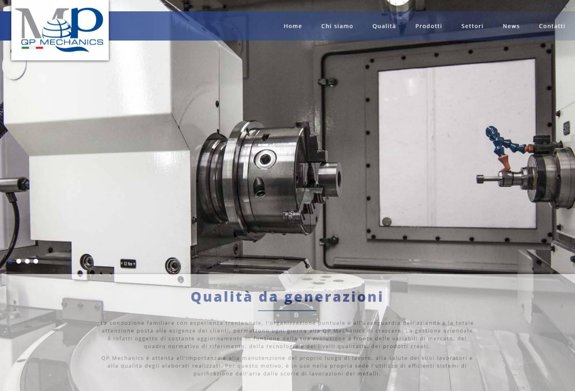 Qualità sito internet responsive ottimizzato QP Mechanics NewVisibility