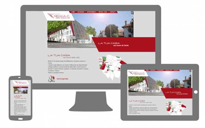 sito internet responsive residenza remac realizzato da newvisibility