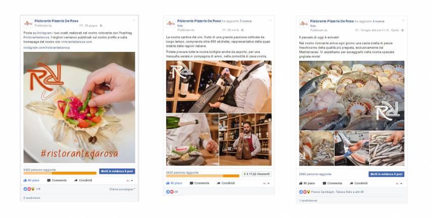 gestione social media ristorante da rosa newvisibility