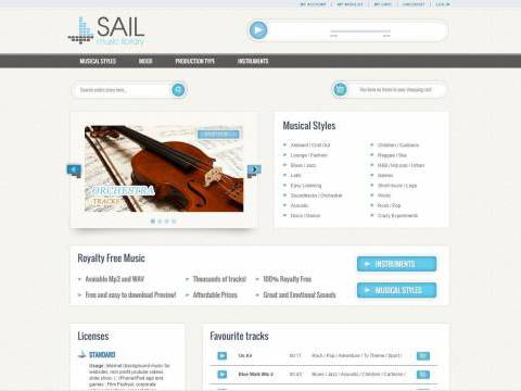 Sito e-commerce Sail Music Library NewVisibility