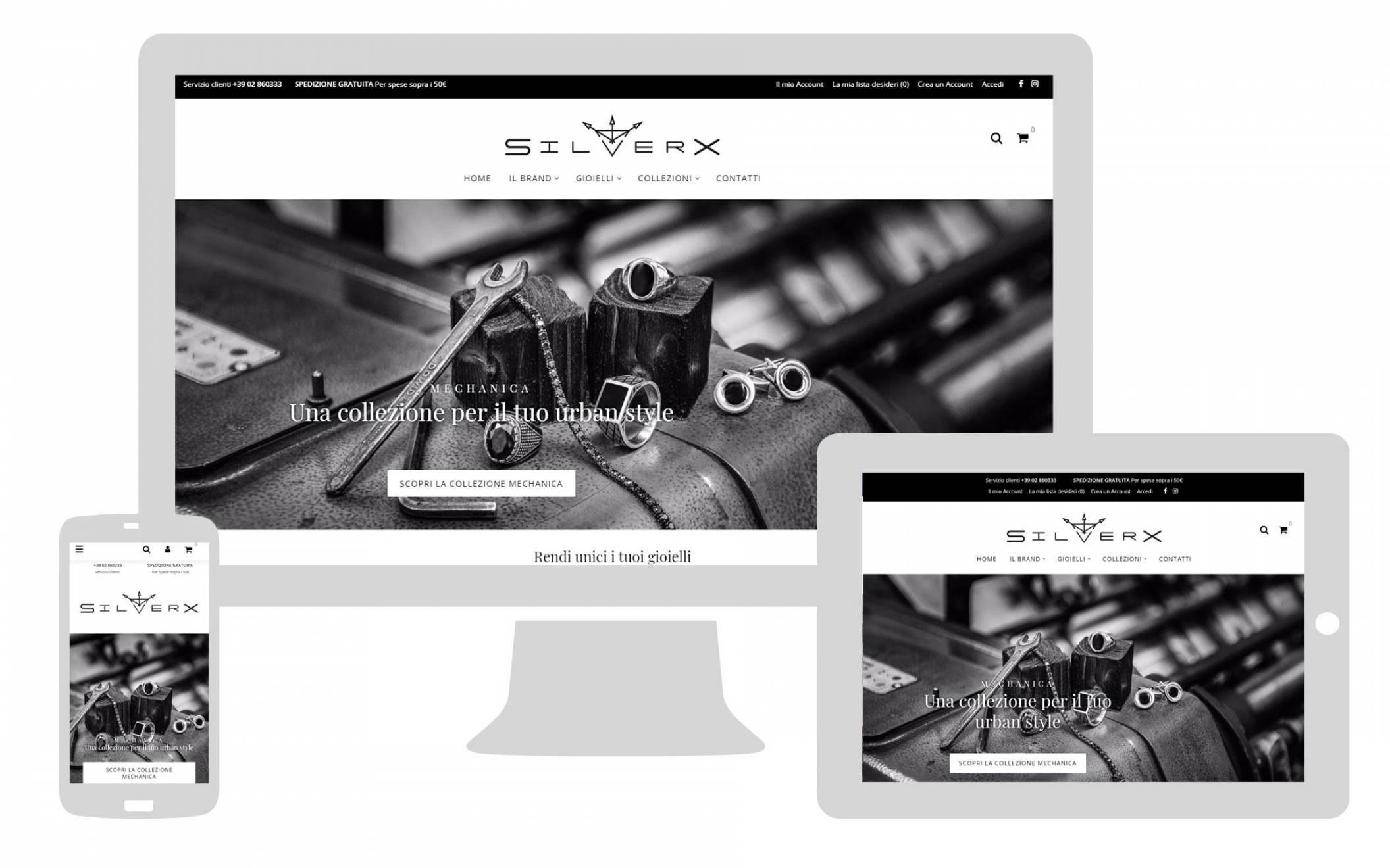 realizzazione sito internet responsive SilverX newvisibility
