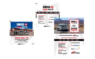 Cura immagine coordinata servizio newsletter Swiss Camper