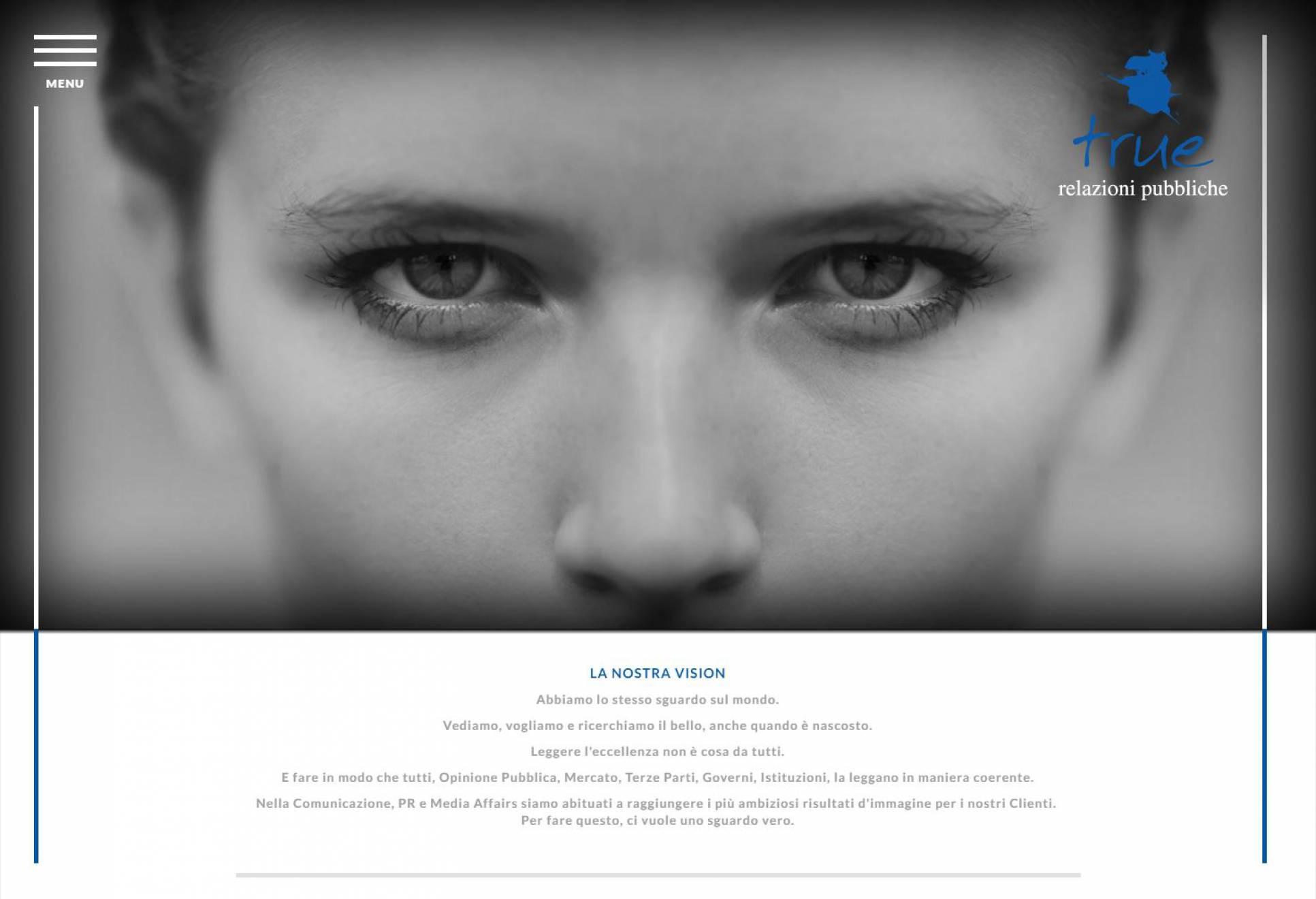 Homepage sito internet responsive True-rp