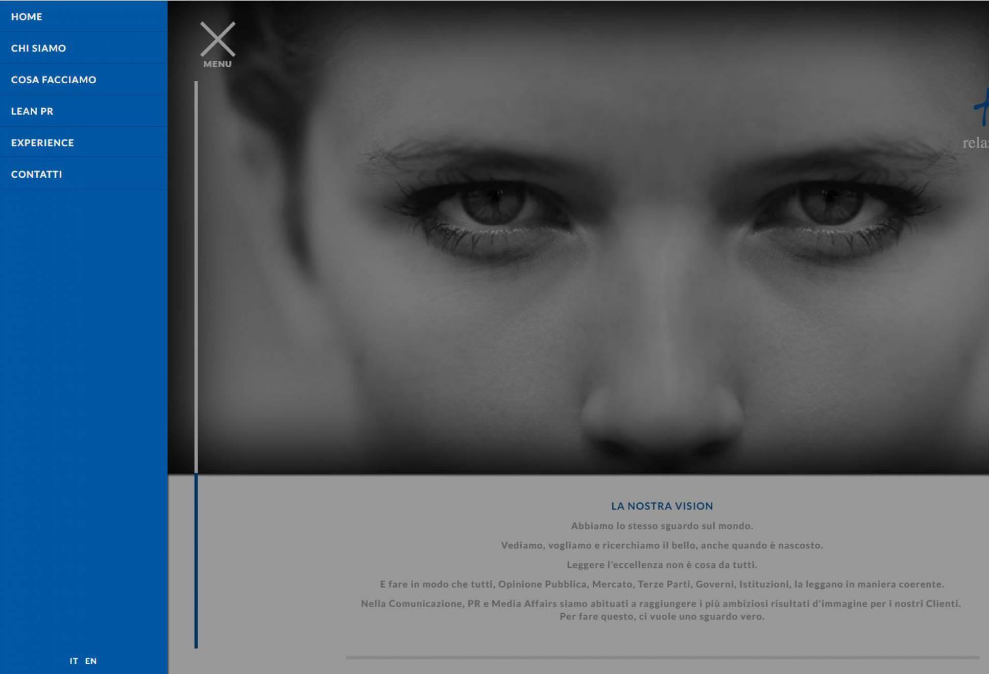 Menu sito web responsive True-rp