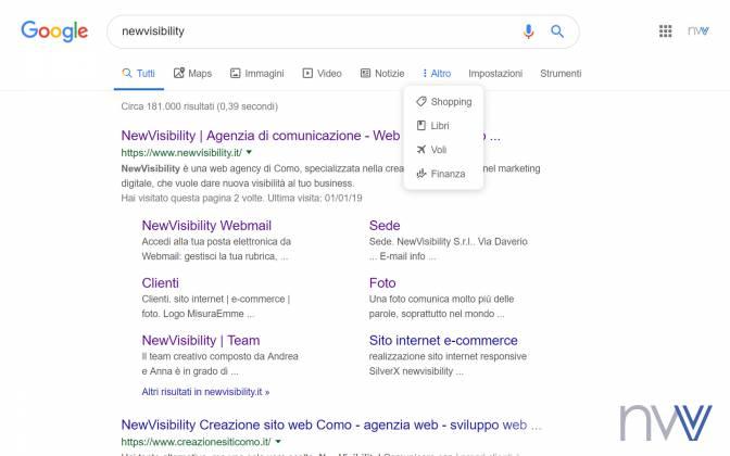 Arrivano le icone nella ricerca su Google desktop